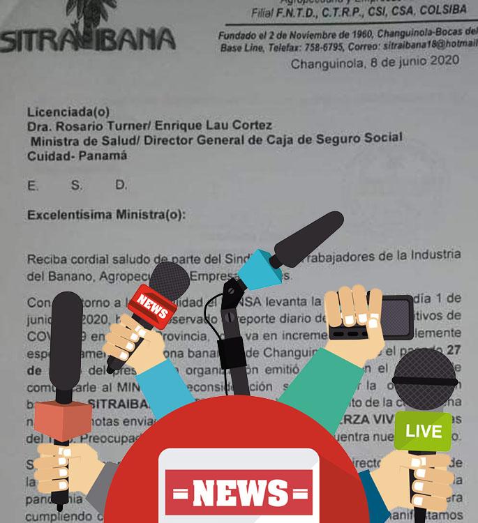 Panamá / los sindicatos de SITRAIBANA y SITRAPBI enviaron solicitud al Ministerio de Salud